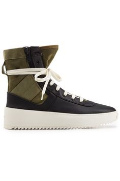 sale retailer 5c5de 1051d Fear of God - High Top Sneakers Jungle aus Leder und Textil