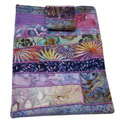 Tablet or IPad Sleeve Padded in Purple Batik by Sieberdesigns