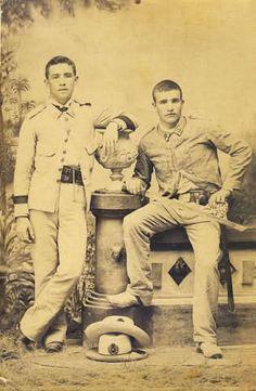 soldados españoles en Cuba (época colonial). The Spanish American War, The Republic, Historian, Troops, Old Photos, Character Inspiration, Colonial, Black And White, Brazil