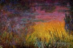 Claude Monet Sunset (left Half) oil painting reproductions for sale