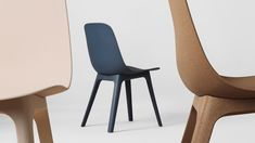 Odger is the new chair from the Form Us With Love studio for the huge Swedish company, Ikea. Is a chair thought from the materia to the form. Born from a design challenge, with a gesture, a unique manner to assembly it, with a click. Ikea Ps, Chair And A Half, New Furniture, Furniture Design, Furniture Chairs, Recycled Furniture, Wood Plastic, Outdoor Chairs, Design Reference