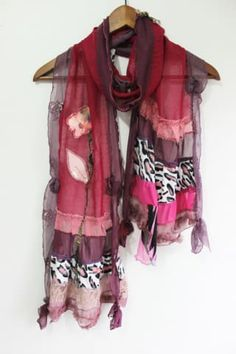 Wine colored scarf, Bordeaux linen scarves, Bordeaux lace scarf, Design burgundy shawl, Wine linen scarves, Stunning burgundy scarf