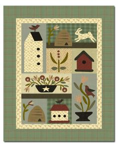Spring Fling Pattern from Missouri Star Quilt Co Wool Applique Quilts, Wool Applique Patterns, Wool Quilts, Quilt Patterns, Applique Ideas, Quilting Ideas, Quilting Projects, Butterfly Quilt, Bird Quilt