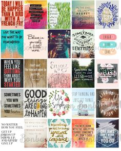 Quote Stickers Planner Printable Motivational by monbonbon