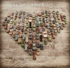 Vintage toy car collection.     via: Vintageologie.