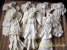 Angels by artystycznaewa.deviantart.com on @deviantART Солёное тесто (?), судя по бархатистой текстуре.