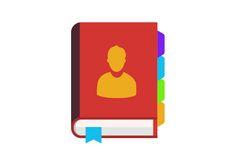 Contact Book Free Flat Vector