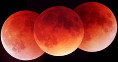 A Lunar Eclipse in Three Exposures