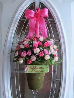 Spring Wreath  Valentine Wreath  Rose