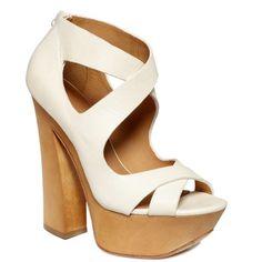 L.A.M.B. Shoes, Minny Platform Sandals (25040 DZD) ❤ liked on Polyvore featuring shoes, sandals, heels, zapatos, calçado, high heeled footwear, strap heel sandals, platform sandals, wood heel sandals and strappy platform sandals
