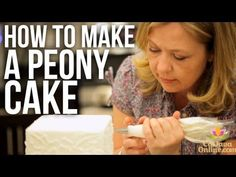 <3 How to Decorate a Peony Cake | Cake Tutorials