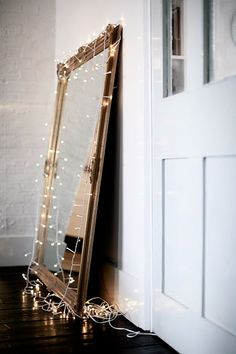Mirror with lights - not just for Christmas