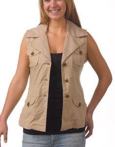 Live A Little Women`s Safari Vest (bestseller)