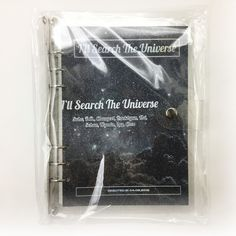 SM Town SUM Gift Shop ARTIST 6 HOLE BINDER NOTE - EXO I will search the Universe
