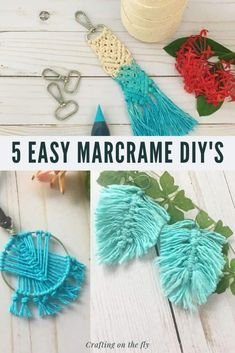Diy Crafts To Do, Diy Craft Projects, Yarn Crafts, Craft Ideas, Fair Projects, Beach Crafts, Macrame Wall Hanging Diy, Hanging Art, Sewing To Sell