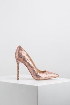 KACHOROVSKA / sequined high-heel wedding pumps Wedding Pumps, Wedding Looks, High Heels, Shoes, Fashion, Moda, Zapatos, Shoes Outlet, Fashion Styles