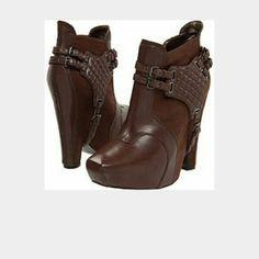 Sam edelman zoe 2 booties Brown wedge ankle booties one time ware Sam Edelman Shoes Ankle Boots & Booties