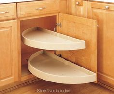 Buy the Rev-A-Shelf Almond Direct. Shop for the Rev-A-Shelf Almond RAS Polymer Diameter Half Moon Shaped Pivoting Two Shelf Lazy Susan Set - Slides Not Included and save. Corner Cabinet Solutions, Blind Corner Cabinet, Storage Solutions, Lazy Susan, Base Cabinets, Storage Cabinets, Corner Cabinets, Kitchen Cabinets, Colored Cabinets