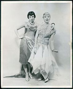 Diamonds ~ YVONNE ADAIR and CAROL CHANNING Gentlemen Prefer Blondes original Photo 1949