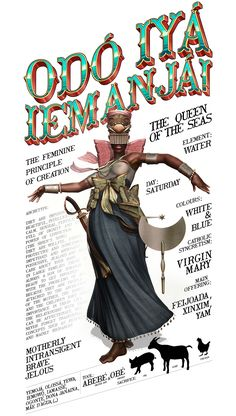 As entidades e Orixás do ilustrador brasileiro Pedro Henrique Ferreira, o Lambuja! - Update or Die! Yemaya Orisha, Yoruba Orishas, Yoruba Religion, Power Colors, Afro Art, African Diaspora, African Culture, Sacred Art, Gods And Goddesses