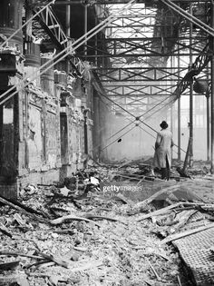 The smouldering ruins of the Crystal Palace exhibition hall in Sydenham, south London, destroyed by a fire. Get premium, high resolution news photos at Getty Images London Now, South London, Exhibition Building, Exhibition Space, Crystal Palace, Hyde Park, Palace London, Glass Structure, London History