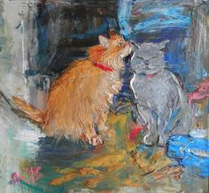 Buy cats, Oil painting by Anastasiya Kachina on Artfinder. Discover thousands of other original paintings, prints, sculptures and photography from independent artists.
