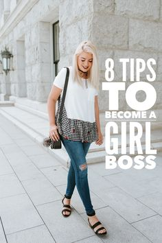 8 TIPS TO BECOME A GIRL BOSS | The Red Closet Diary | Instagram: @ jalynnschroeder | work from home, girl boss, summer fashion, choker necklace.