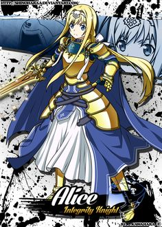 Alice Zuberg is from Sword Art Online Alice Zuberg is one of the heroines in the Alicization Arc and the childhood friend of&nb. Sword Art Online Wallpaper, Accel World, Anime Military, Kirito, Fantasy, Fire Emblem, Online Art, Anime Characters, Manga Anime