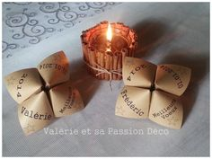 Marque place on pinterest plan de tables place card holders and mariage - Marque place originaux ...