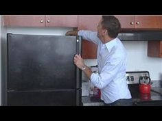 How to Clean a Black Refrigerator - YouTube. I love my black fridge but man does it show every little finger print and smudge, I'll try this!