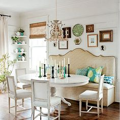 Dining room--almost a head board