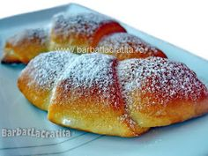 Cornuri cu gem Hot Dog Buns, Hot Dogs, Deserts, Bread, Baking, Food, Brot, Bakken, Essen