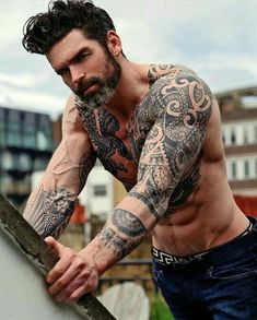 Inked Men's - Inked Men's Hot Guys Tattoos, Sexy Tattoos, Tribal Tattoos, Sleeve Tattoos, Tattoos For Women, Cool Tattoos, Ankle Tattoos, Polynesian Tattoos, Trendy Tattoos