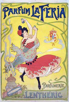 Vintage Dance Poster by HENRI THIRIET