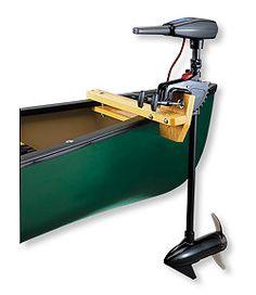 Premade Canoe with Trolling Motor Mount trolling motor