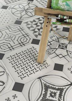 #Octogono #VarieteSombra #VODEVIL | #Ambientes #cerámicos, #pavimento #Porcelánico | #VIVESAzulejosyGres S.A.