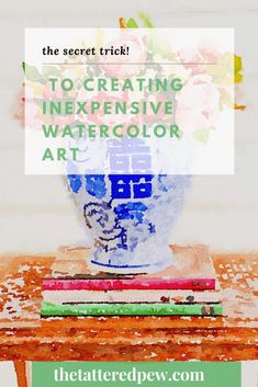 Don't miss this quick and easy way to create inexpensive watercolor art for your home! Fun Diy Crafts, Diy Craft Projects, Home Crafts, Watercolor Pictures, Watercolor Art, Crib Spring, Little App, Diy Cardboard, Ship Lap Walls
