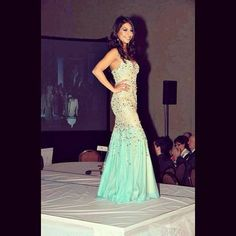 FAN PHOTO FRIDAY!  The stunning Priya Madaan gracing the stage in Terani Couture, moments before accepting her crown and winning the title of Miss Canada 2014!!  [Photo Credit: @misscanada14|Instagram]