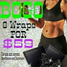 """BOGO has been extended!!! Contact me today to get 8 wraps for $59!!!!!! Lisafisherwrap.itworks.com Text """"bogo"""" to 864-350-4928"""
