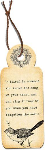 Un amigo es aquel que conoce la canción de tu corazón, y puede cantarla cuando se te olvidó la letra #Inspirandote