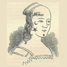 """""""Once upon a time, it was all the rage to adorn oneself with beauty patches – little material creations stuck onto the skin"""" 1600s make up! That would bring a news spin to some shakespeare!"""