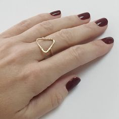 Triangle Ring Triangle Ring Silver Geometric Ring Silver