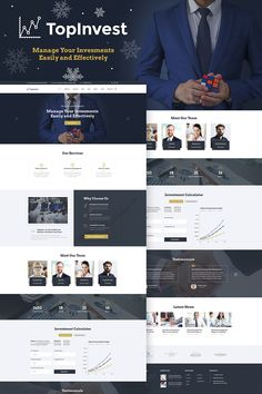 WordPress Template , TopInvest - Investment Company