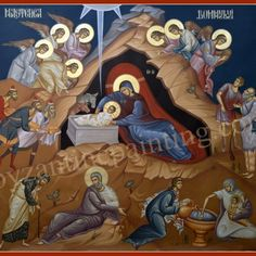 Icon orders | Byzantine Icon Painting Nativity Painting, Painting On Wood, Byzantine Icons, Biblical Art, Religious Icons, Art Icon, Sgraffito, Traditional Paintings, Orthodox Icons