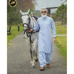 25 Latest Men's Eid Shalwar Kameez Designs For Eid 2020 Mens Fashion Wear, Gents Fashion, Fashion Pics, Male Fashion, Gents Kurta Design, Boys Kurta Design, Kurta Pajama Men, Kurta Men, Muslim Men Clothing