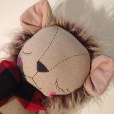 OOAK Lion Heirloom Cloth Doll by PeanutAndElliott on Etsy