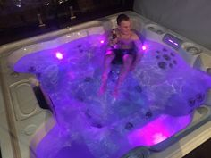 Cheers to Saturday Night, Spa Night! Our Happy customer Liam in his Fiji spa for the first time! Outdoor Spa, Indoor Outdoor, Endless Spas, Spa Accessories, Spa Night, Bath Time, Bad, Melbourne, Swimming Pools