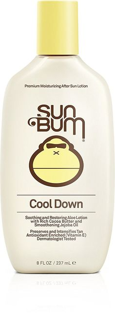 Sun Bum After Sun Cool Down Lotion. After a long day in the sun, your skin needs revitalization and hydration. Sun Bum's aloe lotions soothe and rehydrate your skin to restore its natural moisture balance. Contains soothing aloe. Vitamin E enriched. Aloe Vera Lotion, Sun Lotion, Sun Damaged Skin, Sun Bum, After Sun, Sun Care, Cocoa Butter, Anti Aging Skin Care, Vitamin E
