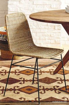 Simplicity Defines This Stylish Rattan Dining Chair From Roost. The Simple  Lines And Woven Design