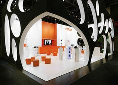 """Osram by GES and Backmann, Kern & Partner.  The light filled interior drew delegates in from the """"swiss cheese"""" exterior."""